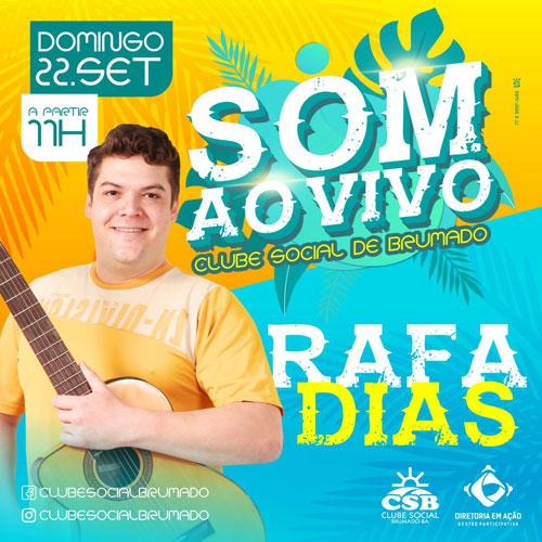 Clube Social: domingo (22) tem manhã de sol ao som de Rafa Dias