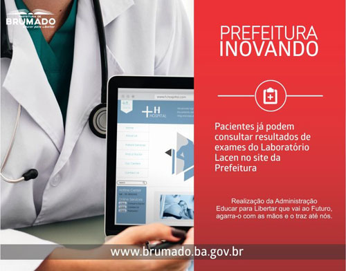 Brumado: pacientes da rede pública podem acessar resultados de exames laboratoriais através do site da prefeitura