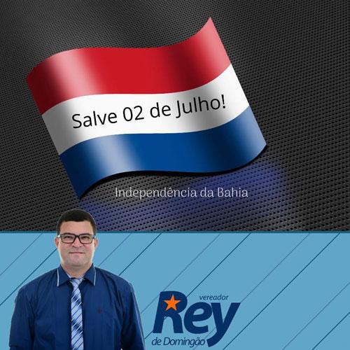 Homenagem do vereador Rey de Domingão - Independência da Bahia