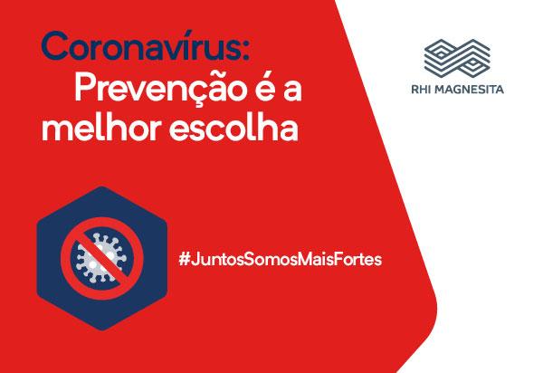 RHI Magnesita alerta para a prevenção no combate ao novo coronavírus em Brumado