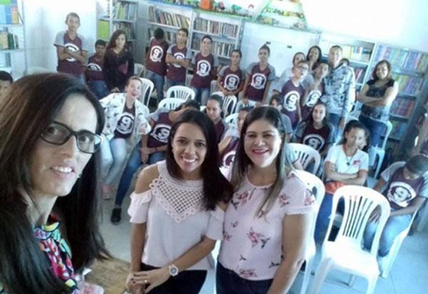 Brumado: realizada roda de conversa com estudantes firmando parceria entre CEJUSC e escola em Itaquarí