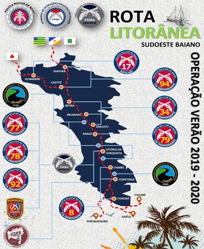 Operação Verão 2019/2020 tem início em toda a Bahia com 'Rota Litorânea' por cidades do sudoeste baiano