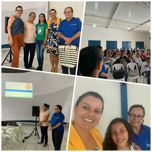 Rotary Club de Brumado inicia atividades do projeto 'Aluno Nota 10' e promove palestra sobre câncer de mama