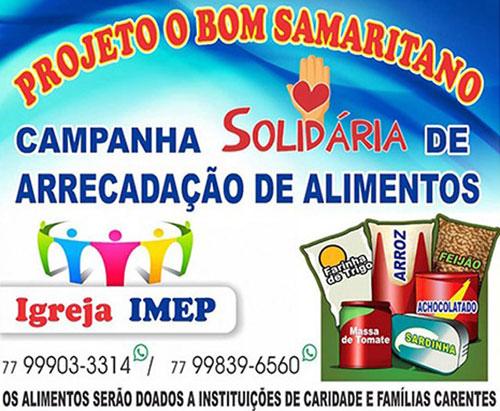 Projeto 'O Bom Samaritano' ajuda quem mais precisa em Brumado; abrace essa causa