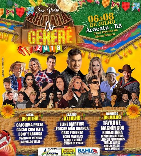 Aracatu: tradicional Arraiá do Gererê começa nesta sexta-feira (06)