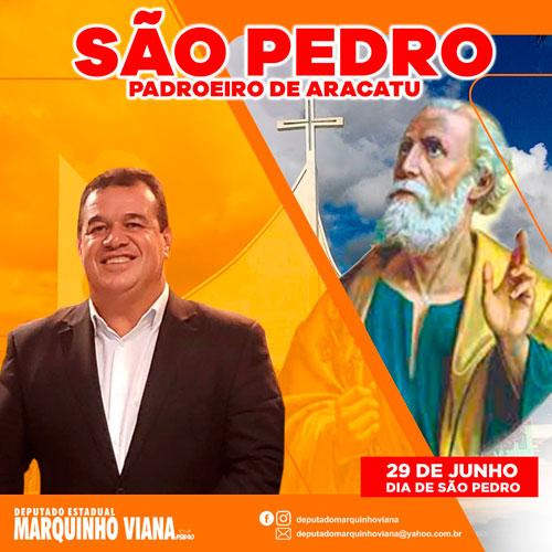 Deputado Marquinho Viana celebra o Dia de São Pedro, padroeiro de Aracatu