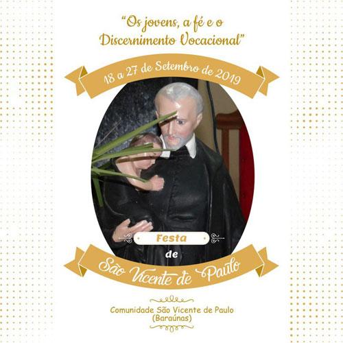Brumado: Comunidade São Vicente de Paulo e Vicentinos realizam festa do Padroeiro e Patrono