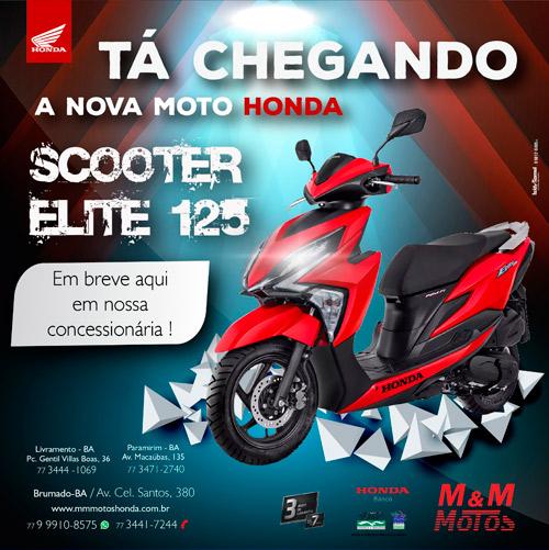 M & M Motos: vem aí a moto Honda Scooter Elite 125