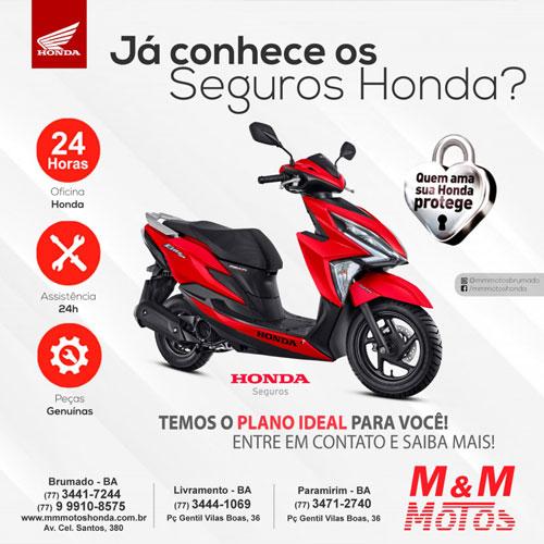 M & M Motos: Conheça o seguro Honda