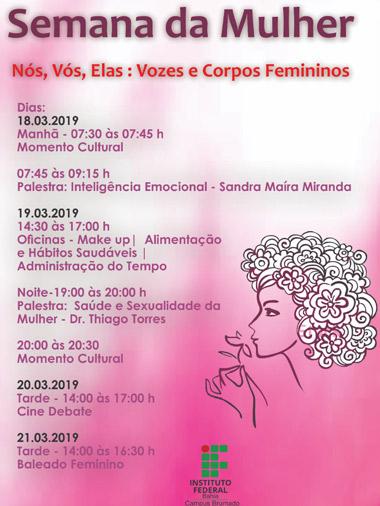 Brumado: IFBA promove Semana da Mulher