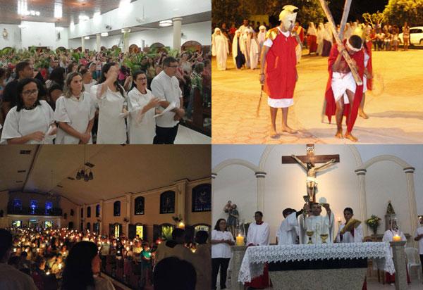 Centenas de fiéis das paróquias de Brumado celebraram a Semana Santa