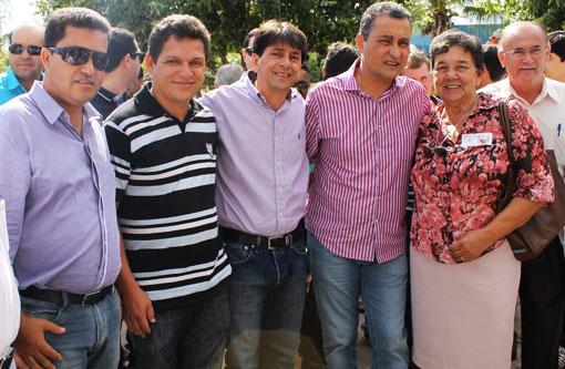 Aracatu: Prefeito Sérgio Maia na visita de Rui Costa à Brumado