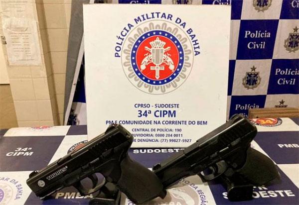 Brumado: Homens são preso após se passarem por policiais militares e ameaçarem moradores de Itaquaraí