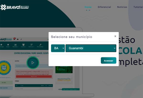 Matricula on-line em Guanambi será feita através do Sistema Bravo
