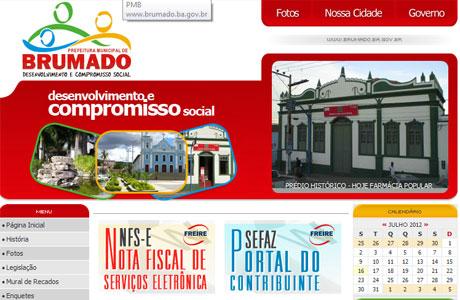 BRUMADO: PREFEITURA RETIRA NOTÍCIAS DE SITE OFICIAL