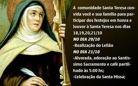 BRUMADO: FESTEJOS DE SANTA TEREZA