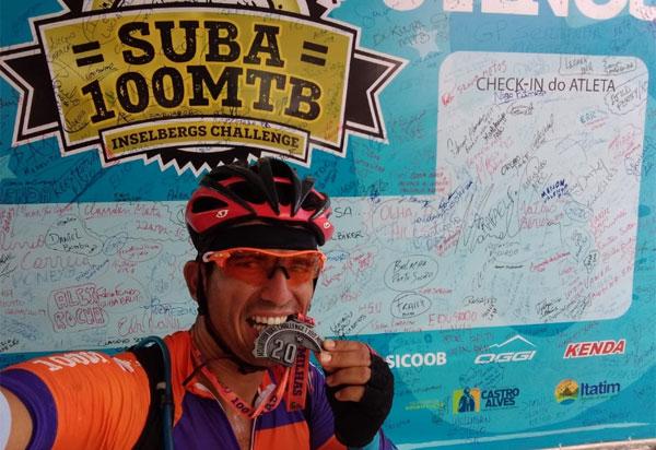 Empresário e ciclista Beto Bike supera desafios e conclui a competição Suba 100