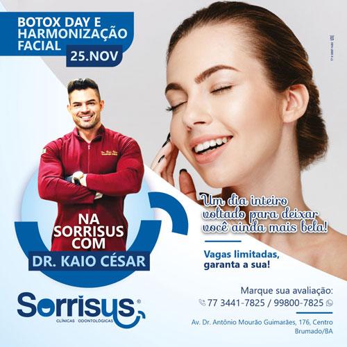 Brumado: Clínica Odontológica Sorrisus: Botox Day e Harmonização Facial no dia 25 de novembro