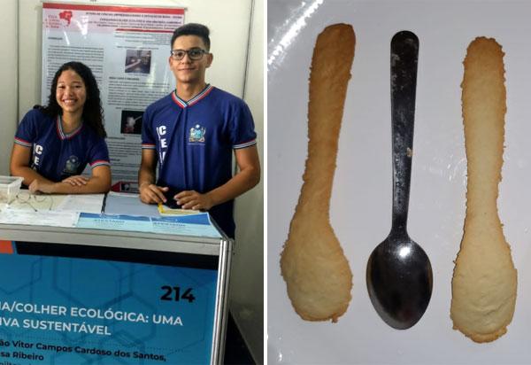Estudantes de escola estadual em Ibiassucê desenvolvem talheres comestíveis