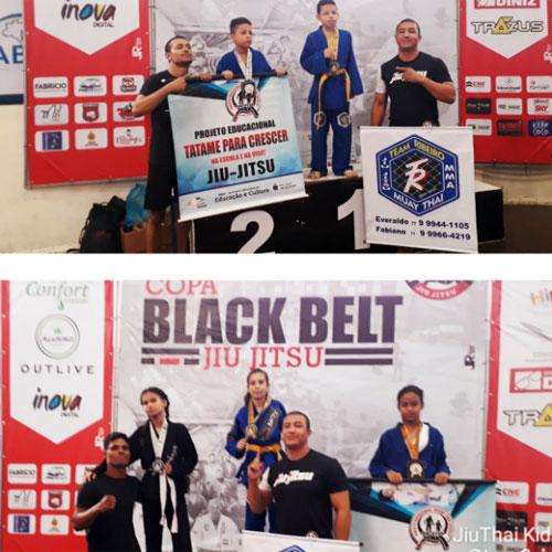 Atletas Kids da Team Ribeiro conquistam 1° lugar na Copa Black Belt de Jiu-jitsu em Vitória da Conquista
