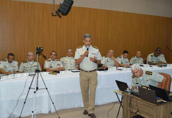 Tenente Coronel Arthur Mascarenhas apresenta projeto de modernização tecnológica ao colegiado de coronéis da Polícia Militar da Bahia