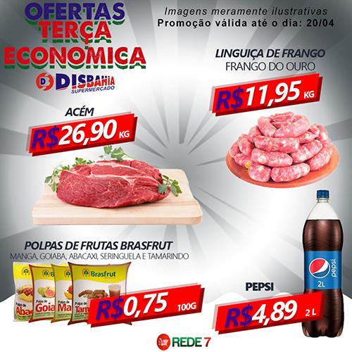 Confira as ofertas da Terça Econômica do Disbahia Supermercado