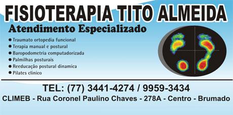 FISIOTERAPIA TITO ALMEIDA, ATENDIMENTO ESPECIALIZADO