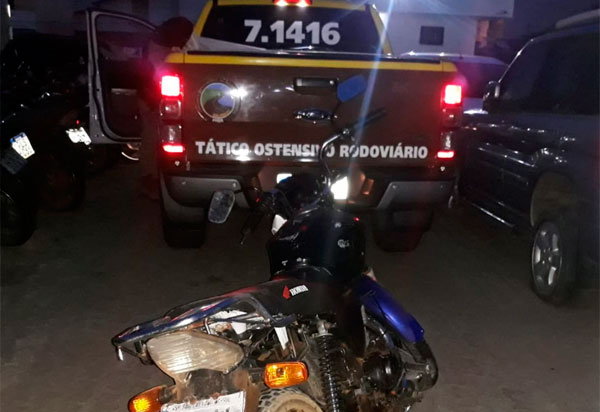 Piripá: TOR apreende moto com numeração de chassi suprimida e placa pertencente a outro veículo