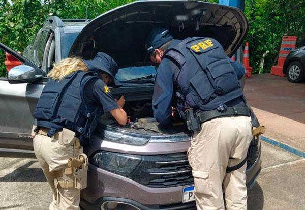 Caminhonete Toro roubada em Valença (BA) é recuperada pela PRF na Chapada Diamantina