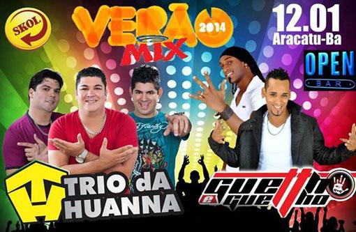 Aracatu: Neste domingo (12) tem o Verão Mix