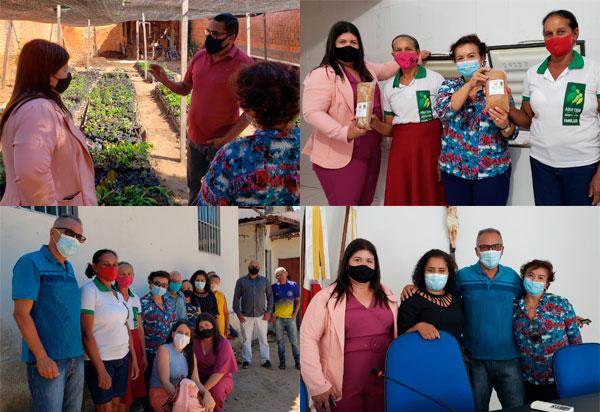 Brumado: Vereadoras Verimar do Sindicato e Lia Teixeira visitam projetos em Paratinga