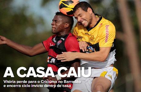 Brasileirão: Vitória tropeça diante do Criciúma