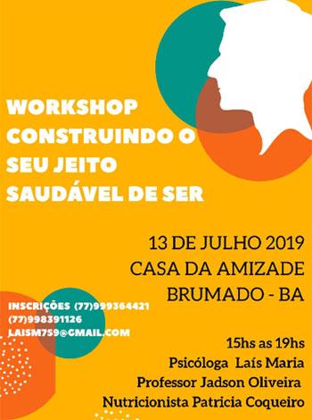 Brumado: participe do Workshop 'Construindo o seu jeito saudável de ser'